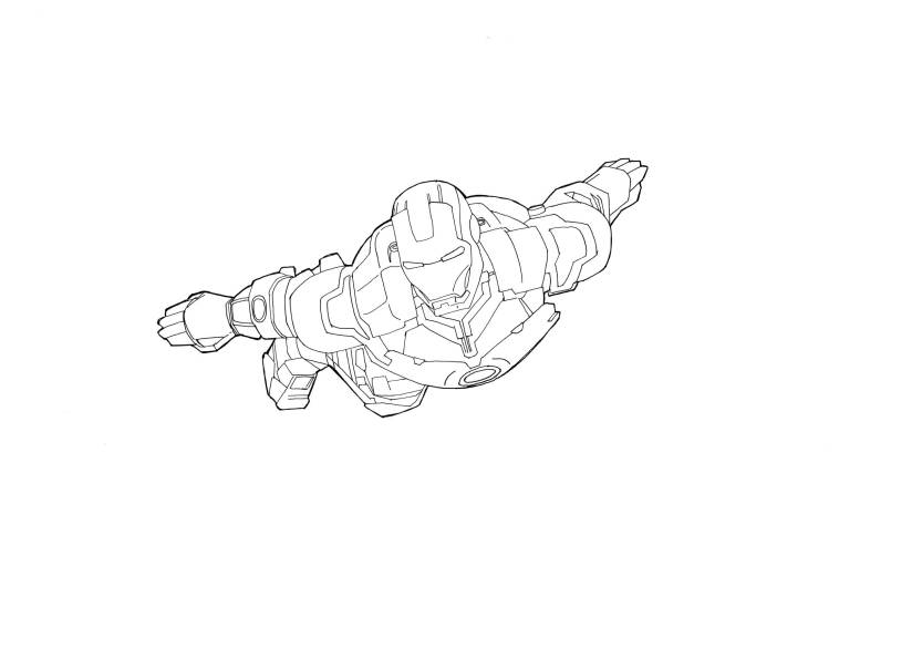 Illustration 22 of 365 - Iron Man line art