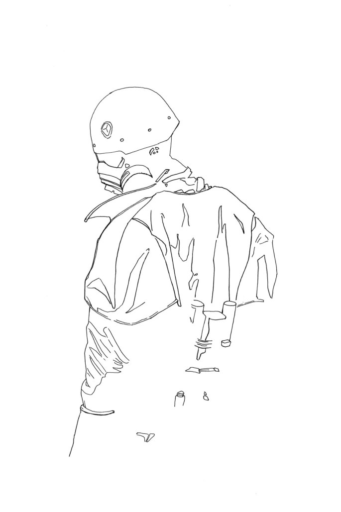 Noir style sketch