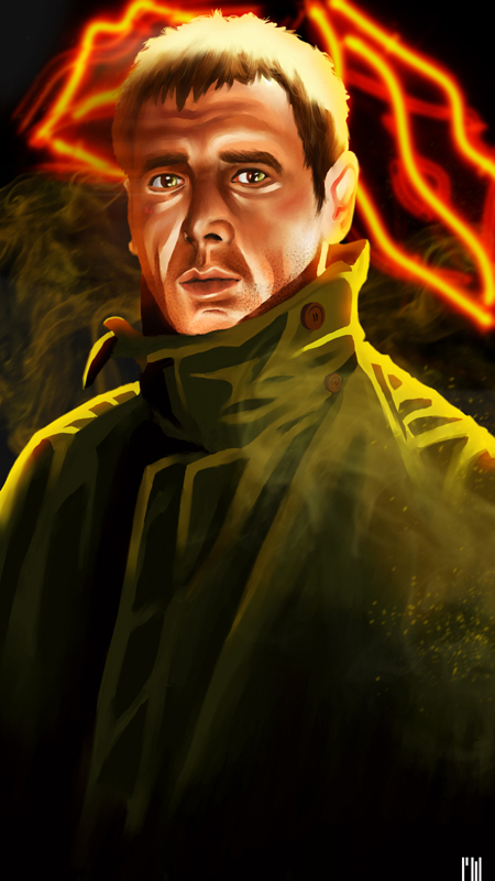 Harrison Ford in Blade Runner. This is one of my favourite films... More than enough reason to create this fan art.